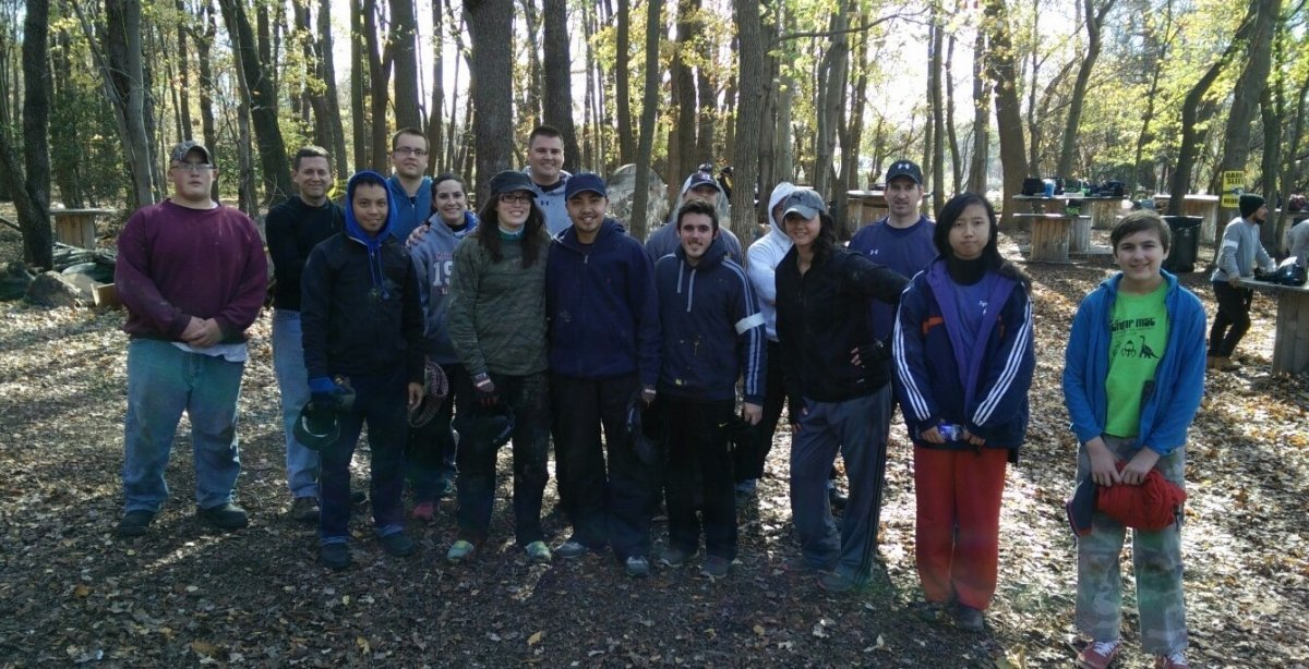 The Young Adult group enjoys going to paintball for some relaxation and fun.