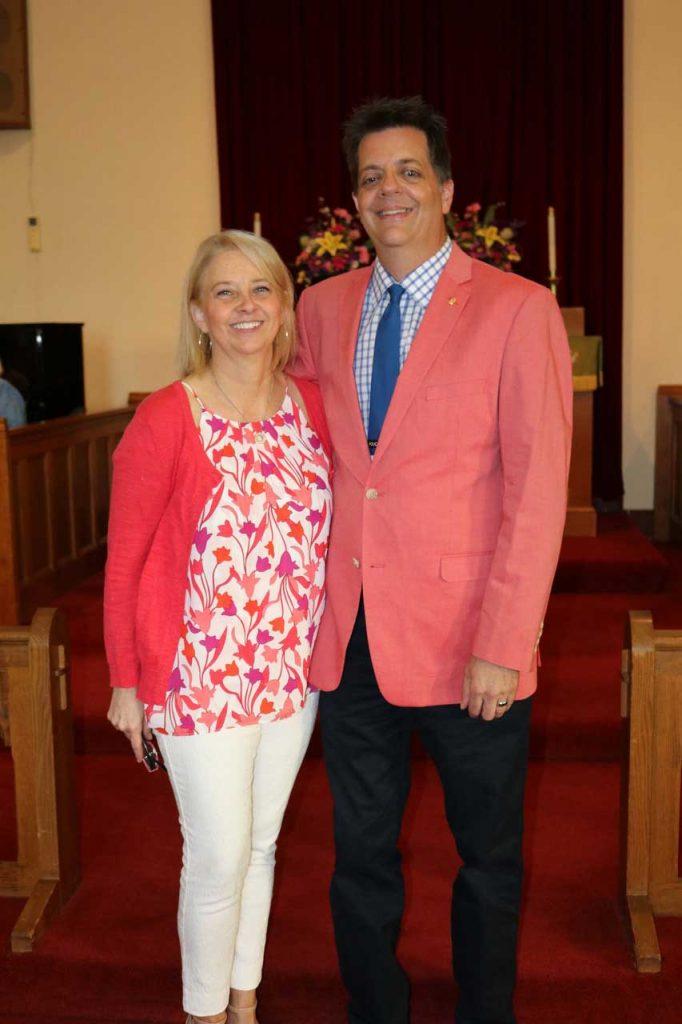 Pastor Elizabeth with husband Bart Cookus